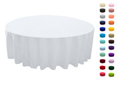 "<p>132in Round Tablecloth</p> <p><span style=""color: #008080;"">Fits our <a style=""color: #008080;"" href=""https://rickyspartyrentals.com/items/72in_round_table/""><strong>72in Round Tables</strong></a> too the floor</span></p>"