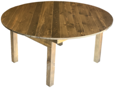 60in Round Rustic Table 60in Round, 30in High Seats 8 Guest