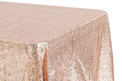 "<p>Blush/Rose Gold Glitz 90x156 Tablecloth</p> <p><span style=""color: #008080;"">Fits our <strong><a href=""https://rickyspartyrentals.com/items/8ft_long_table/"" style=""color: #008080;"">8ft Long Tables</a></strong>&nbsp;too the floor</span></p>"