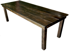 Fruitwood Farm Table 8ft Long, 36in Wide, 30in High Seats 8 Guest