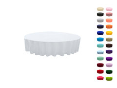 "<p>90in Round Polyester Tablecloth</p> <p><span style=""color: #008080;"">Fits our <a style=""color: #008080;"" href=""https://rickyspartyrentals.com/items/48in_round_kids_table/""><strong>48in Round Kids Tables</strong></a>&nbsp;too the floor</span></p>"