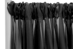 Black Sheer Pipe and Drape- 8ft High, 6-10ft Wide