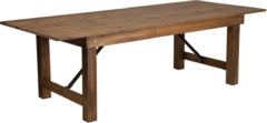 Fruitwood Farm Table  8ft Long, 36in Wide, 30in High Seats 8-10 Guest