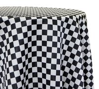 "<p></p> <p>120in Round Finishline tablecloth</p> <p><span style=""color: #008080;"">Fits our <strong><a href=""https://rickyspartyrentals.com/items/60in_round_table/"" style=""color: #008080;"">60in Round Tables</a></strong> too the floor</span></p>"