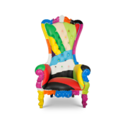 Multicolor Throne Chair