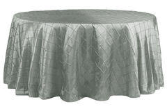 "120"" Round Tablecloth (Pintuck/Sliver)"