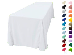 "<p>90x132 Polyester Tablecloth</p> <p><span style=""color: #008080;"">Fits our <a style=""color: #008080;"" href=""https://rickyspartyrentals.com/items/6ft_long_table/""><strong>6ft Long Tables</strong></a> too the floor</span></p>"
