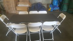 6 FT Table & Chair Package w/Black Cover