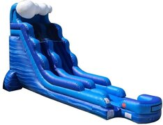 18 Ft Blue Wave Water Slide