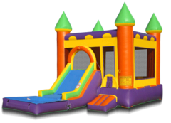 Castle Combo with slide,pool,and BB hoop