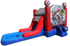 Marvel Avengers Bounce House Combo with Slide