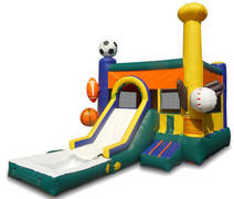 Sports Combo II with slide,pool & BB hoop
