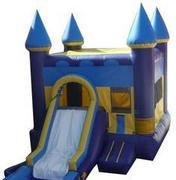 Blue Castle w/ Slide and BB Hoop
