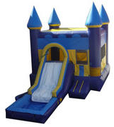 Blue Castle combo w/slide & Pool