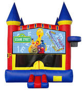 Sesame St. Castle 2 w/ 2 bb hoops