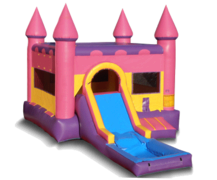 Pink Castle Combo with slide and pool