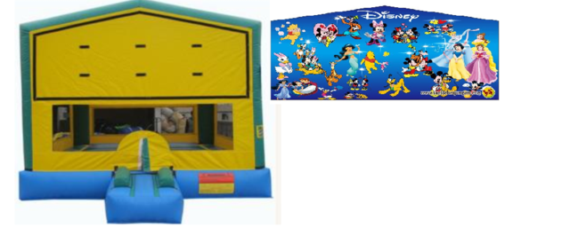 Party Time Bounce House w/ Disney Banner