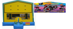 Party Time Bounce House w/ Monster Truck Banner