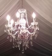 LIGHTS  CRYSTAL 23'. CHANDELIER (8 LIGHTS)