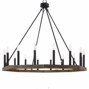LIGHT  FARMHOUSE RUSTIC CHANDELIER 16 LIGHT