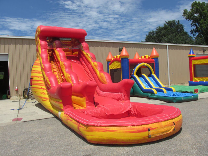 Volcano Inflatable Water Slide Rental In Austin TX