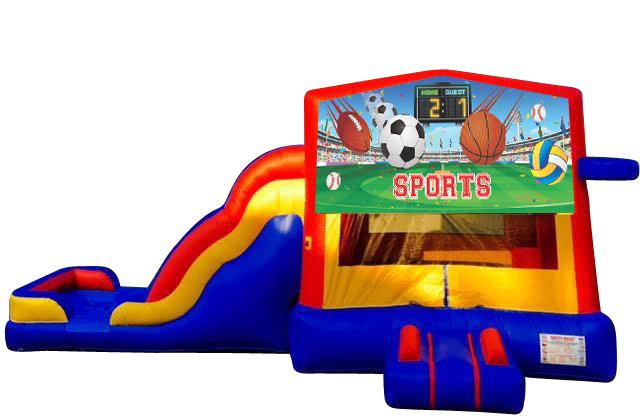 Sports bounce house combo