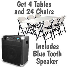 $89 Blue Tooth Speakers w/ 4T, 24C