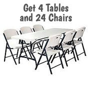 4 Tables & 24 Chairs