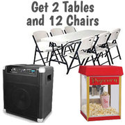 $85 Popcorn Bluetooth Tables Chairs Package