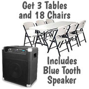 $69 Blue Tooth Speaker w/ Tables and Chairs