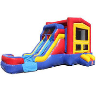 The 3-n-1 Bounce House & Double Lane Water Slide Combo with pool ( Wet or Dry)