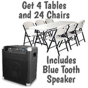 Bluetooth Speakers w/ Tables and Chairs