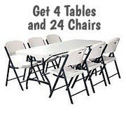 $69 Table and Chair Package /24 C, 4 T