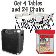 $119 Popcorn Bluetooth Tables Chairs Package