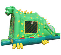 3-n-1 Dino Bounce House Combo W Slide ( Dry Only)