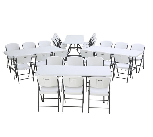 4 Tables - 6ft & 24 chairs