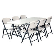 1 Table 6 FOOT & 6 Chairs