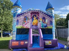 Printed Princess Castle Bouncer (Large)