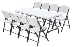 1 Table 8 foot & 8 Chairs