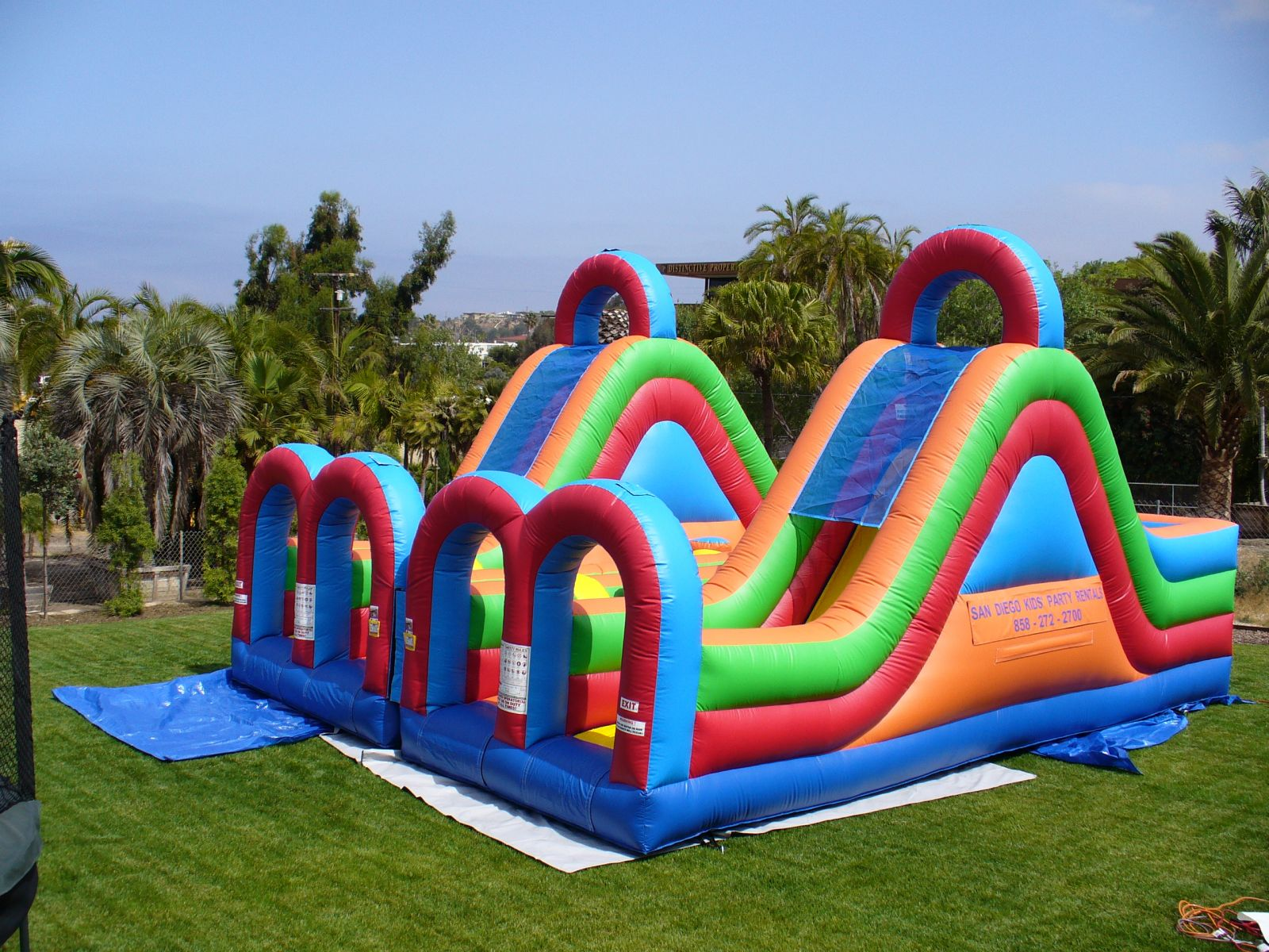 Dual lane Turbo Rush Inflatable Obstacle Course