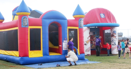 70 foot inflatable Climbing Castle Obstacle Course rental