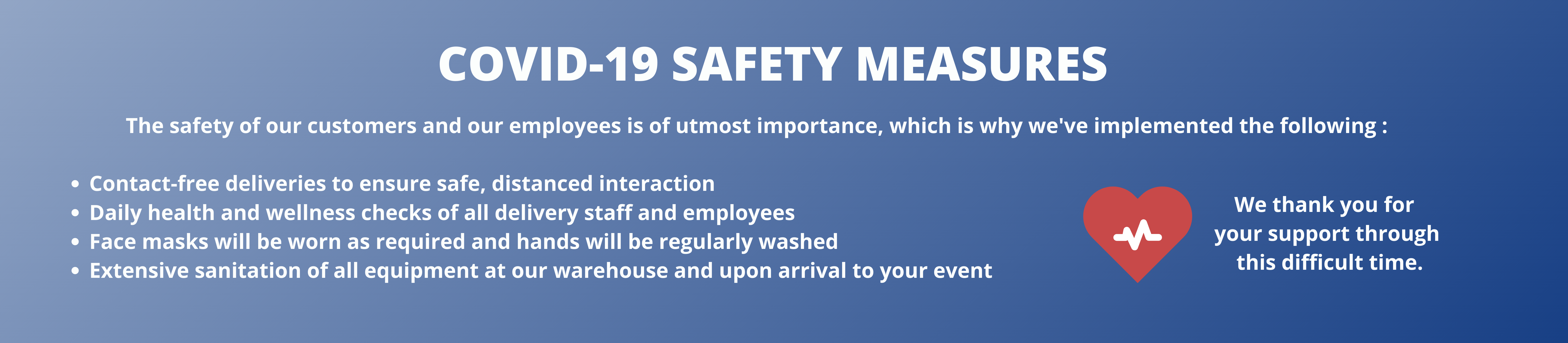 safety is or number one concern