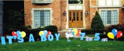 bay boy yard sign