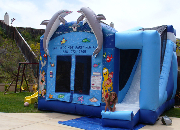 bounce house with slide rentals