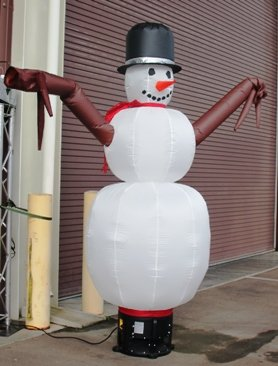 8 Foot Inflatable Snowman Party Dancer