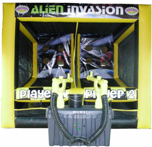 Alien Invasion Cannon Ball Blaster Game