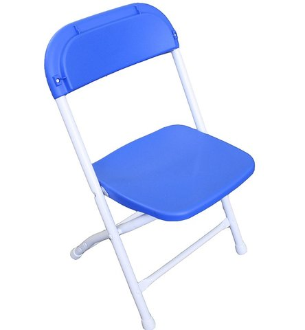 Kid's Folding Blue Chair