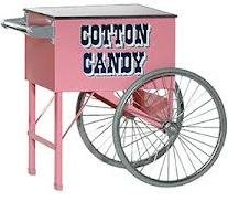 Cotton Candy Machine Cart with Large Wheels