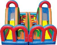Turbo Rush - Dual Lane Inflatable Obstacle Course