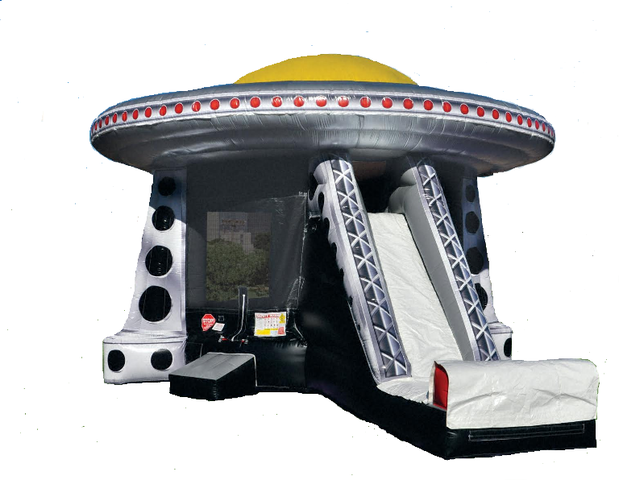 UFO Bounce House with Slide Combo